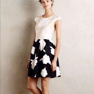 Anthropologie Troubadour Floral Colour Block Dress